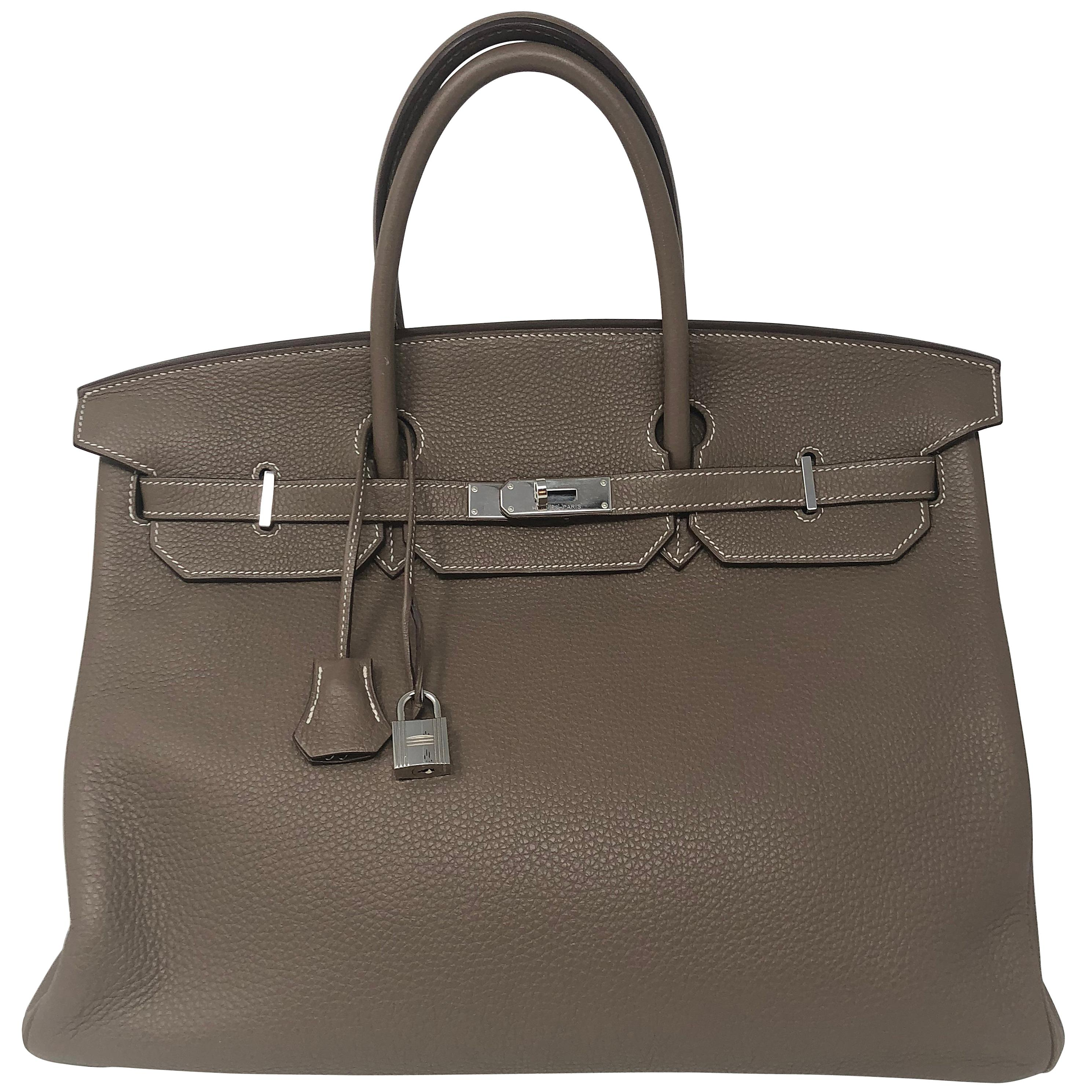 Hermes Birkin 40 Etoupe Togo Leather