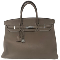 Hermes Birkin 40 Etoupe Togo Leather