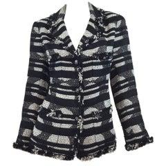 Chanel 2008 P Metallic Tweed Knit Jacket