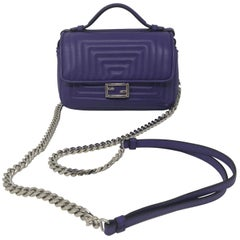 Fendi Purple Mini Crossbody Bag