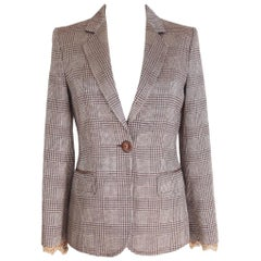 1990s Gianfranco Ferre Brown Beige Wool Silk Jacket