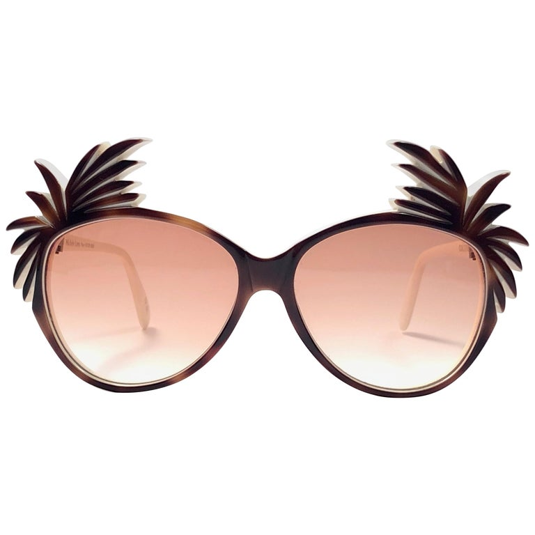 """New Vintage Michele Lamy for Victor Gros """" Cocotier """" Sunglasses Made in France For Sale"""
