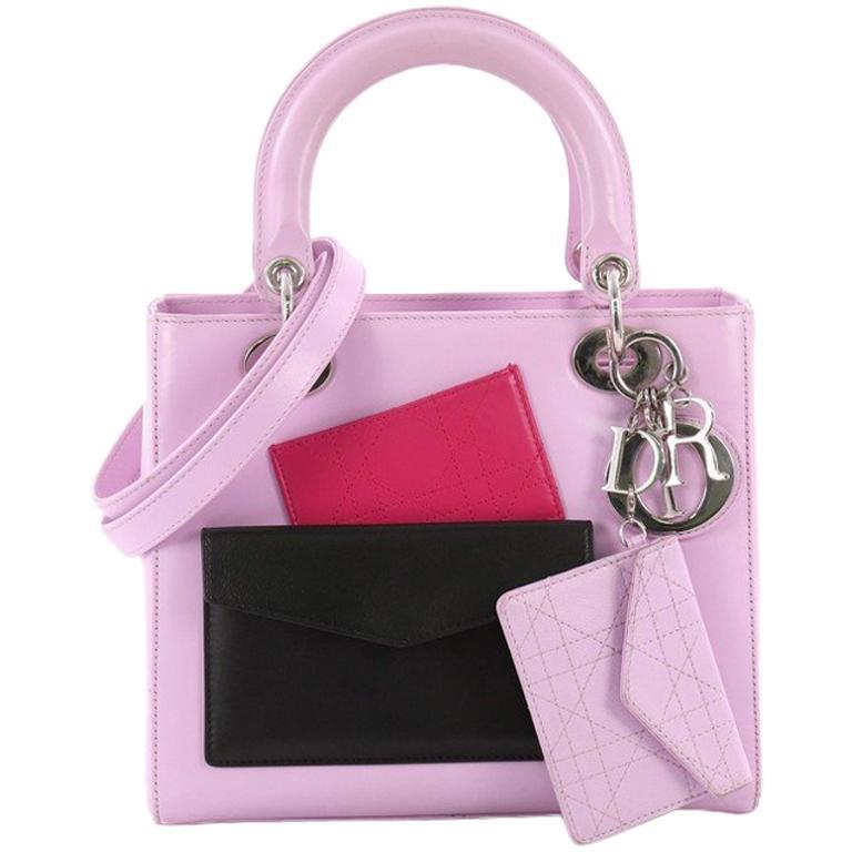 b7bfa412b282 Christian Dior Lady Dior Pockets Handbag Leather Medium For Sale at ...