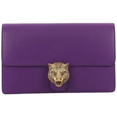 Gucci Animalier Flap Clutch Leather Medium