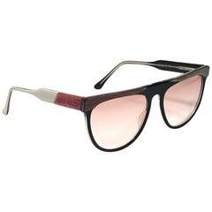 New Vintage Robert La Roche Avantgarde Frame Rose Lens 1980 Sunglasses