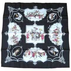 Hermes silk scarf  New, Never Worn Chevaux des Moghols In Box