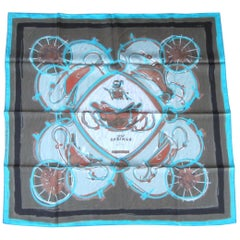 "Hermes Silk Scarf  ""New Springs""  Never Worn New in box Box"