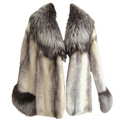 Stunning Cross Mink & FOX Cape Jacket