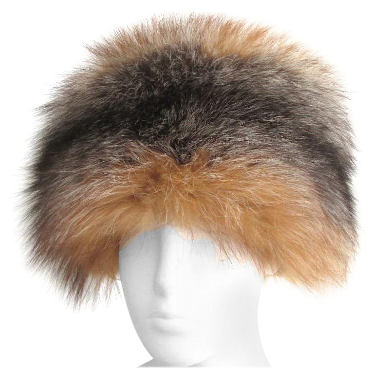 Red and Silver Fox Fur Hat  For Sale