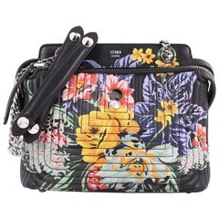 Fendi DotCom Click Shoulder Bag Quilted Printed Leather Small
