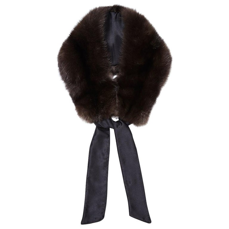 Verheyen London Circle Stand up Collar in Natural Barguzinsky Sable Fur For Sale