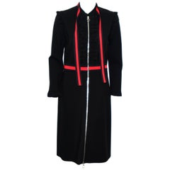 Gucci Black Long Sleeve Dress w/ Red & Blue Trim Front