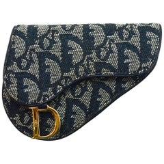 Christian Dior Blue Monogram Saddle Coin Purse