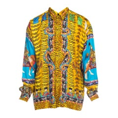 Rare Chinese Emperor Gianni Versace Silk Shirt Mens