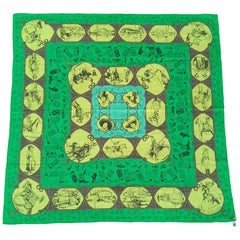Hermès Cotton Charm Scarf Rodeo Des Cowgirls Kermit Oliver TEXAS 67 cm GRAIL
