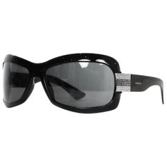 Gucci Black Sunglasses W/ Rhinestones On Arms & Case