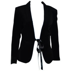 Jean Paul Gaultier Very Art Deco Cut Out Black Jacket