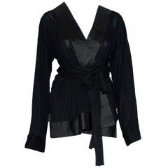 Haider Ackermann Black Silk Blend Lounging Jacket