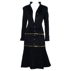 Alexander McQueen Black Adaptable Wool & Cashmere Coat