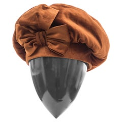 Mr. John Silk Velvet Hat, Circa: 1950's