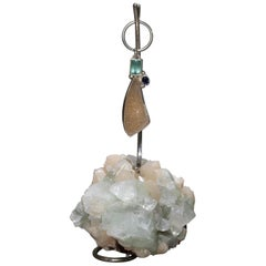 Studio Greytak 'Druzy Keychain on Apophyllite' with Tourmaline & Topaz