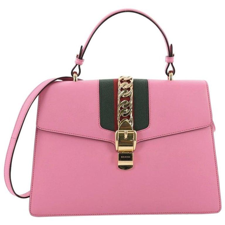 d2af5da5e Gucci Sylvie Top Handle Bag Leather Medium at 1stdibs