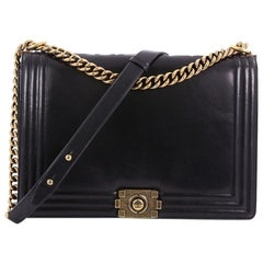 Chanel Reverso Boy Flap Bag Glazed Calfskin Large