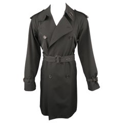 JEAN PAUL GAULTIER S Black Twill Double Breasted Trenchcoat Coat