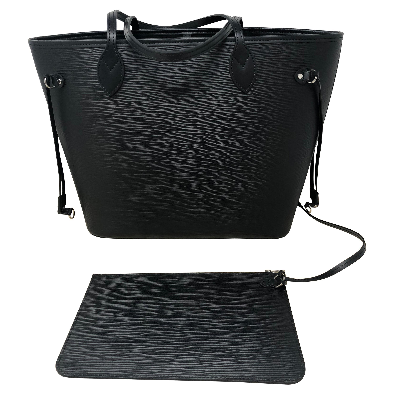 6b3d7557ffd2 Louis Vuitton Neverfull MM Black Epi at 1stdibs