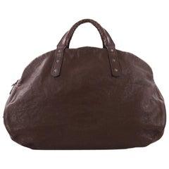 Bottega Veneta Weekender Bag Leather With Intrecciato Detail Large