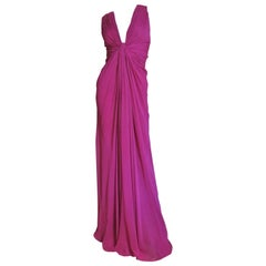 J Mendel Paris Silk Plunging Gown