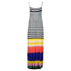 Missoni Mare Multicolor Knit Spaghetti Strap Dress Sz 42