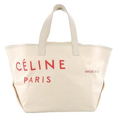 Celine Made In Tote Canvas with Leather Medium