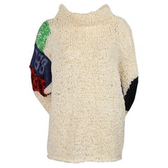 CELINE by PHOEBE PHILO 'BELONG' hand woven knit sweater
