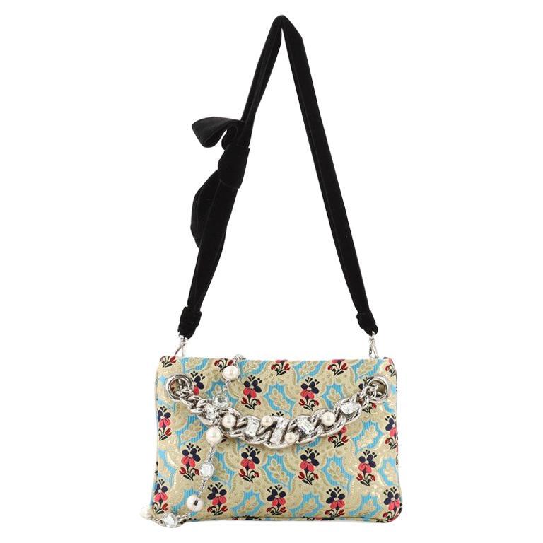 c072ab4aa650 Miu Miu Crystal Crossbody Bag Embellished Jacquard Small For Sale at ...