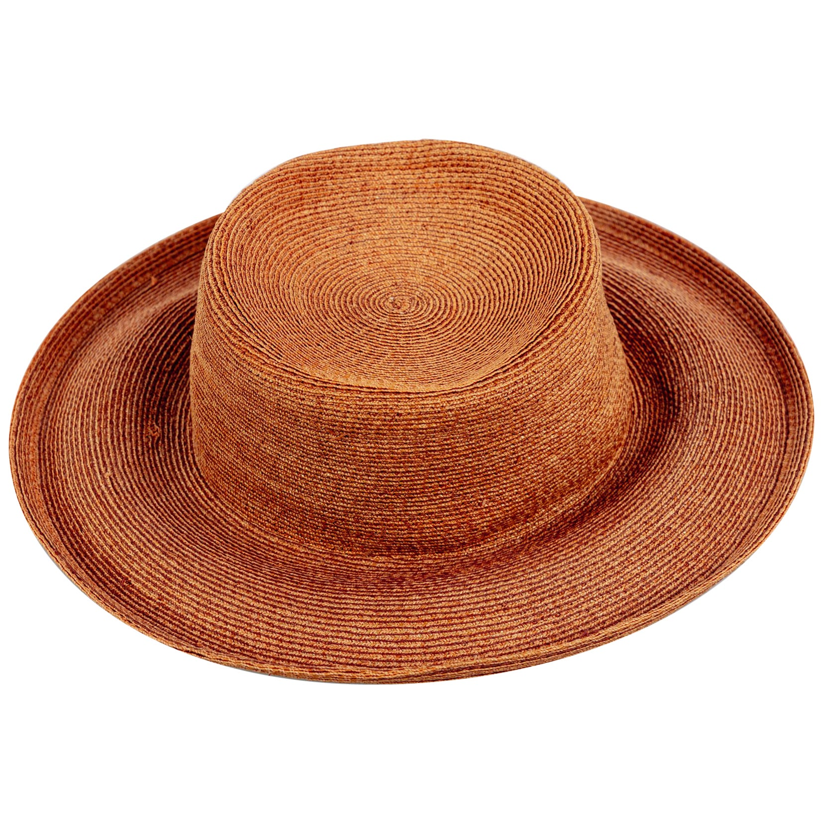 Patricia Underwood Golden Brown Straw Hat, 1990s