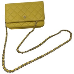 Chanel Yellow Wallet on Chain