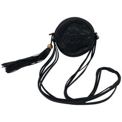 Vintage Black Chanel Lambskin Crossbody