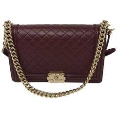 Chanel Burgundy Boy Bag