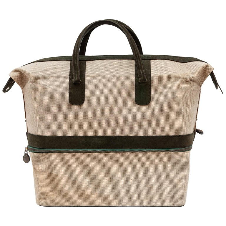 Vintage Canvas Weekend Bag by Delvaux, Belgium,1950s For Sale at 1stdibs 64cdb39372