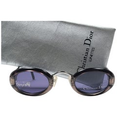 New Vintage Christian Dior 2956 Oval Small Translucent Grey Optyl Sunglasses