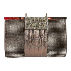 DANIEL SWAROVSKI Evening Clutch in Crocodile and Crystal mesh