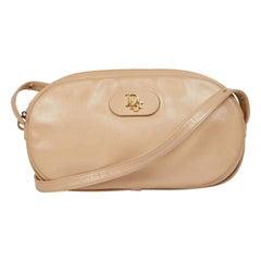 CHRISTIAN DIOR Vintage Bag in Beige Leather