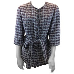 Chanel Lavender and Grey Print Jacket