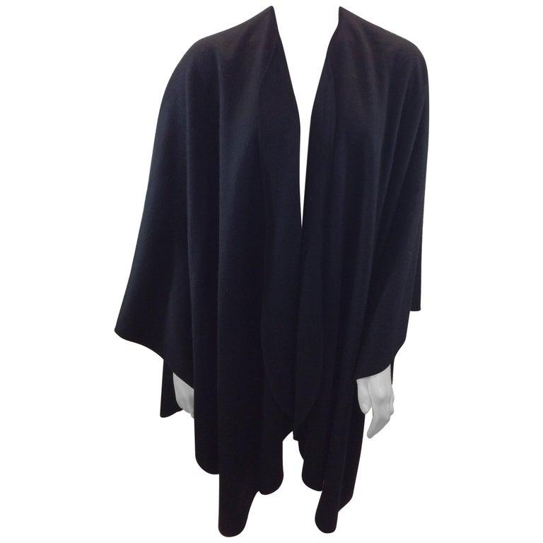 Loro Paina Black Cashmere Shawl For Sale
