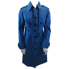 Burberry Blue Trench Coat NWT