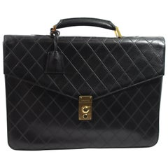 Chanel Briefcase in Black Lambskin leather