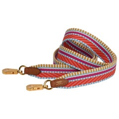 Hermes Bag Strap 25mm Sangle Cavale Multi Colored Swift with Palladium