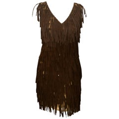G-lish Beaded Fringe Brown Dress Country Meets Rock & Roll