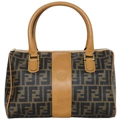 Fendi Vintage Brown Monogram Boston Bag
